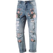 Only Boyfriend Jeans Damen light-blue-denim