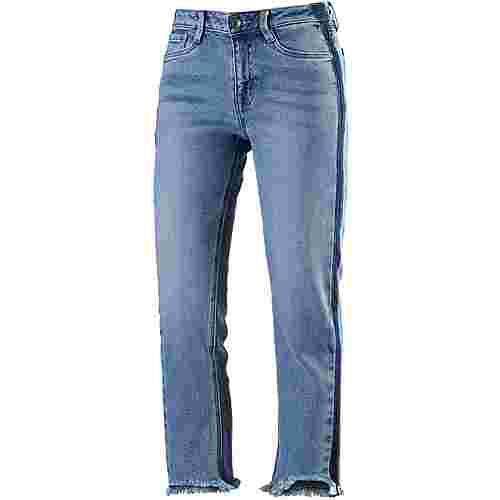 TOM TAILOR Skinny Fit Jeans Damen mid-stone-wash-denim