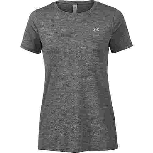 Under Armour Heatgear T-Shirt Damen charcoal light heather-metallic silver