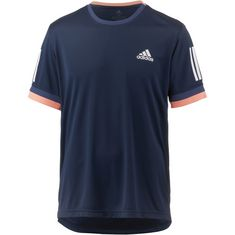 adidas 3 Streifen Club Tennisshirt Herren collegiate navy