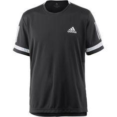 adidas 3 Streifen Club Tennisshirt Herren black