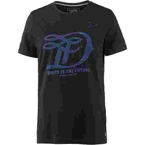 TOM TAILOR Printshirt Herren black