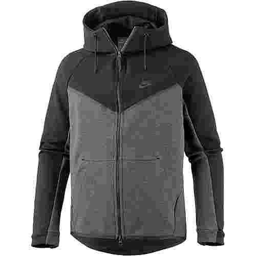 Nike TCH FLC Kapuzenjacke Herren black-charcoal heather