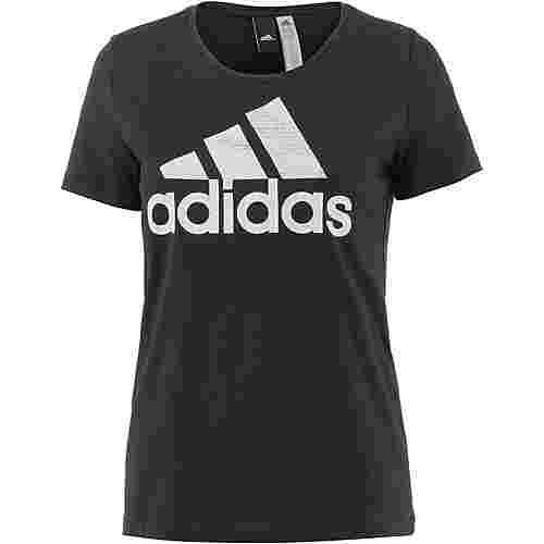 adidas Foil Text Bossed T-Shirt Damen black