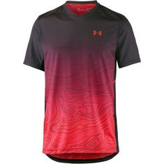 Under Armour Australien Open Tennisshirt Herren black-neon coral