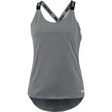 Nike Dry Elastika Tanktop Damen carbon heather-white