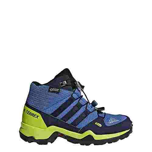 adidas TERREX Mid GTX Mountain Running Schuhe Kinder Trace Royal/Collegiate Navy/Solar Slime