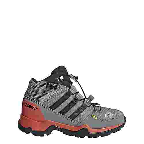 adidas TERREX Mid GTX Mountain Running Schuhe Kinder Grey Three/Grey Three/Carbon