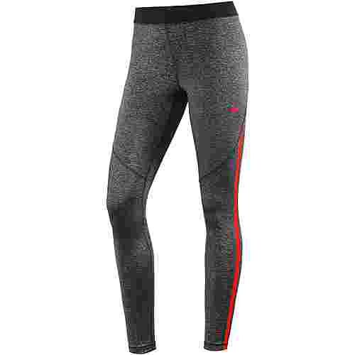 Nike Pro Hypercool Tights Damen black-heather-red