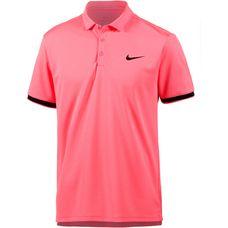 Nike Tennis Polo Herren lava glow-black