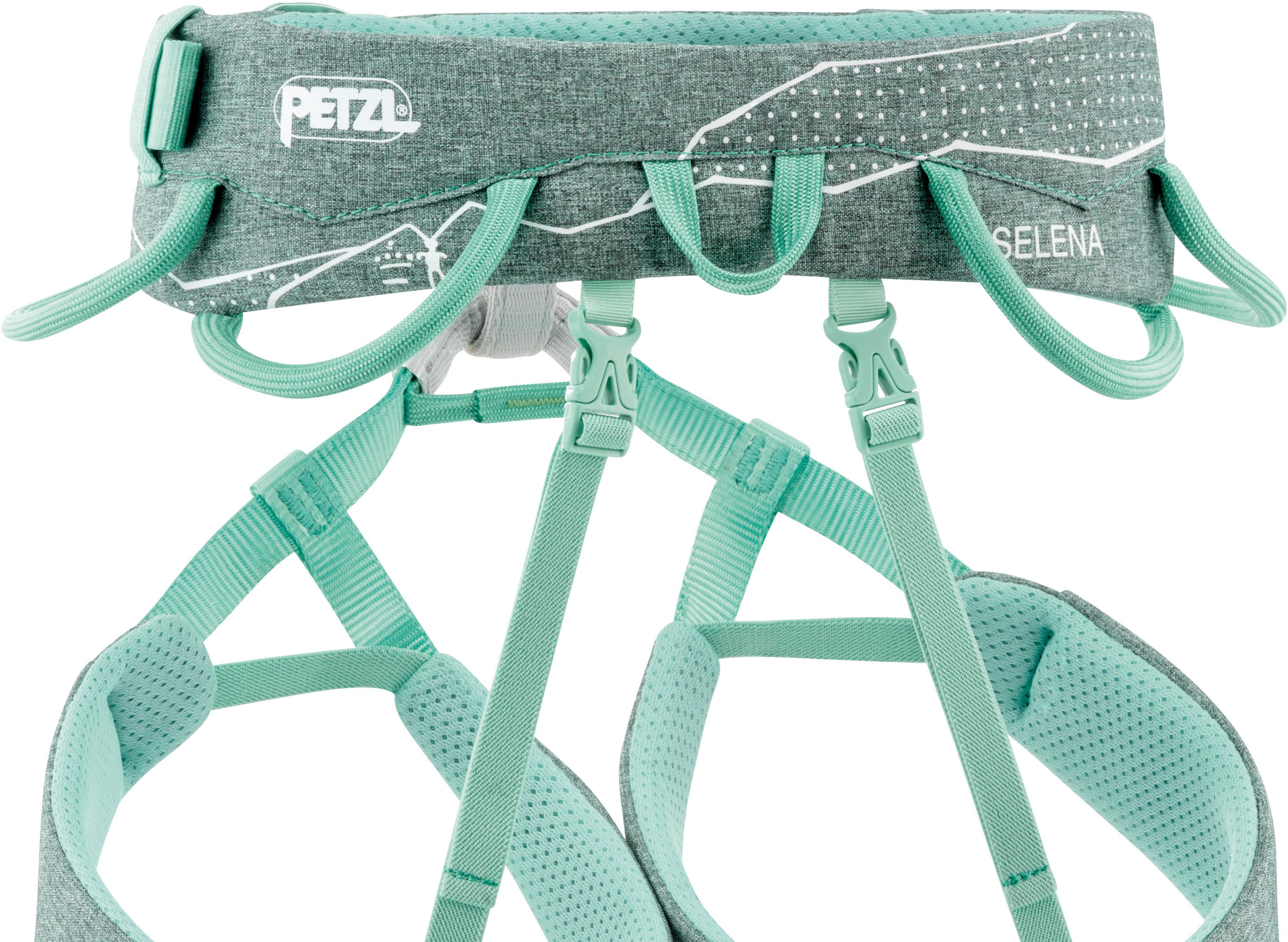 Klettergurt Damen Gebraucht : Petzl selena klettergurt damen grün meliert im online shop von