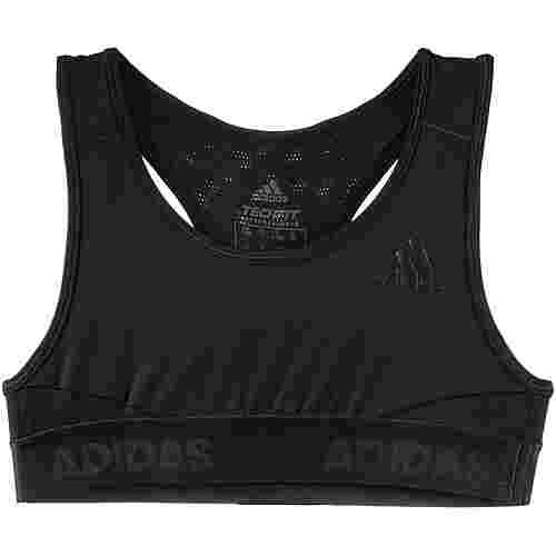 adidas Alphaskin Kompressionslevel Sport Sport-BH Kinder black