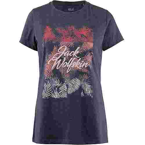 Jack Wolfskin Royal Palm T-Shirt Damen midnight blue