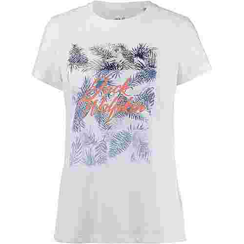 Jack Wolfskin Royal Palm T-Shirt Damen white rush