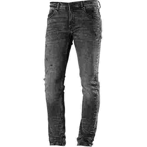 Shine Original Slim Fit Jeans Herren ripped grey