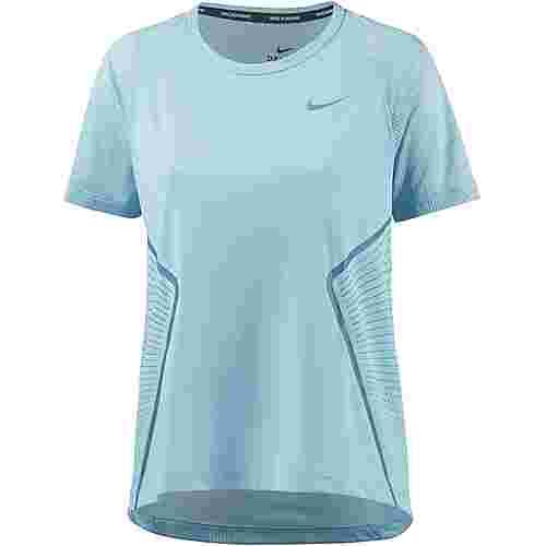 Nike Dry Miler Laufshirt Damen ocean bliss-noise aqua-reflective silver