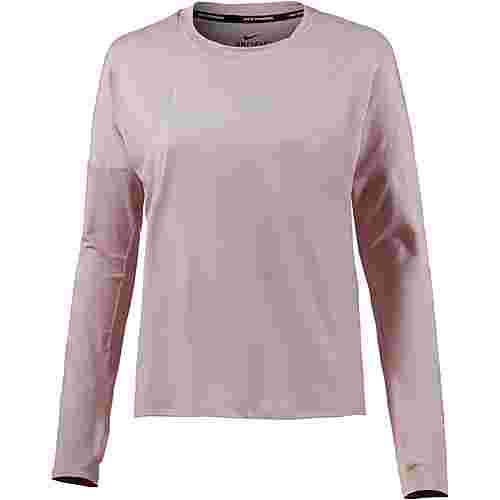 Nike Dry Element Laufshirt Damen particle rose-vast grey-reflective silver