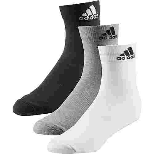 adidas Per Ankle Socken Pack black-medium-grey-heather-white