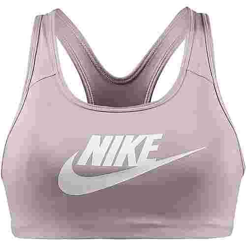 Nike Pro Classic Swoosh Futura Sport-BH Damen particle rose-white