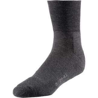Rohner Fibre light quarter Merino Wandersocken schwarz-denim