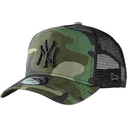 New Era A-FRAME TRUCKER NEW YORK YANKEES Cap woodland camo-black