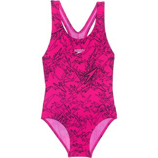 SPEEDO Boom Allover Badeanzug Kinder electricpink-black