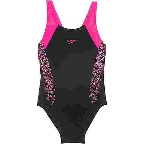 SPEEDO Boom Splice Badeanzug Kinder black-electricpink