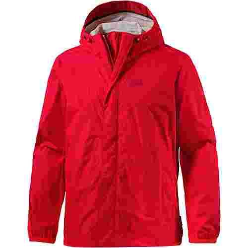 Jack Wolfskin Cloudburst Regenjacke Herren peak red