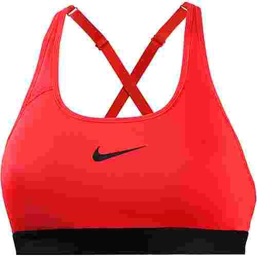 Nike Classic Strappy Sport-BH Damen habanero red-black-black