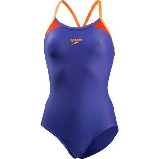 SPEEDO Splice Schwimmanzug Damen ultramarine-fluo orange-lobster