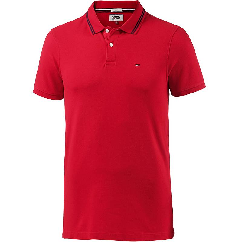 Tommy Hilfiger Poloshirt Herren racing red im Online Shop von ... 1537159dd7