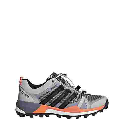 adidas TERREX Skychaser GTX Mountain Running Schuhe Damen Grey Two/Core Black/Hi-Res Orange
