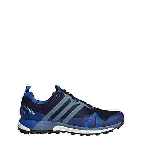 adidas Terrex Agravic GTX Mountain Running Schuhe Herren Collegiate Navy/Raw Steel/Blue Beauty