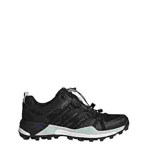 adidas TERREX Skychaser GTX Mountain Running Schuhe Damen Core Black/Core Black/Ash Green