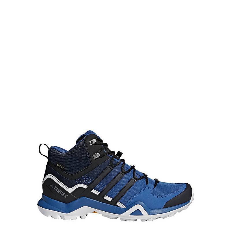 915d759cd6f252 adidasTERREX Swift R2 Mid GTX Mountain Running SchuheHerren Blue  Beauty Core Black Grey One