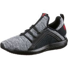 PUMA Mega NRGY Knit Fitnessschuhe Herren black-white-flame-scarlet