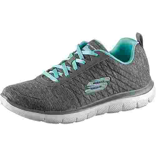 Skechers FLEX APPEAL 2.0 Sneaker Damen grey-light blue