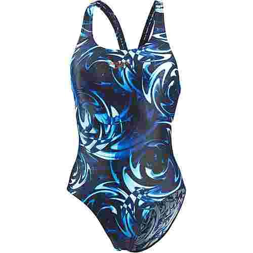 SPEEDO Flipreverse Schwimmanzug Damen black-violet-turquoise