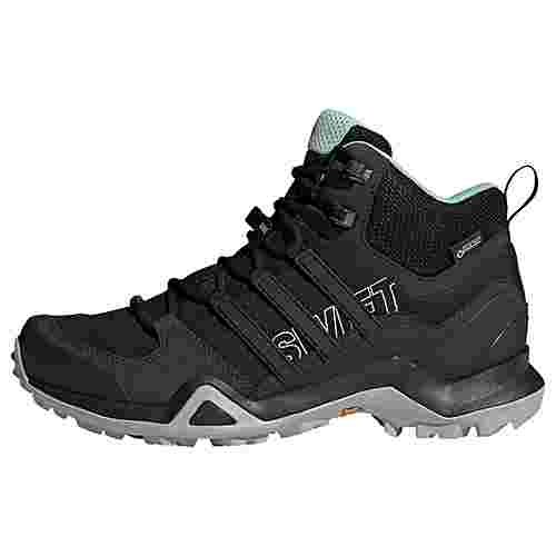adidas TERREX Swift R2 Mid GTX Mountain Running Schuhe Damen Core Black/Core Black/Ash Green