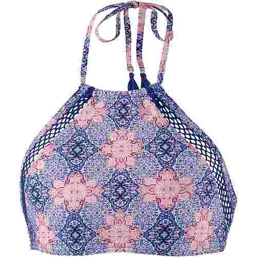 O'NEILL Crochette Bikini Oberteil Damen white aop-blue