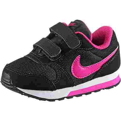 Nike MD Runner Sneaker Kinder black-vivid-pink