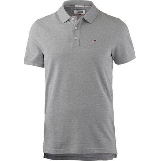 Tommy Jeans Original Fine Pique Poloshirt Herren light grey heather