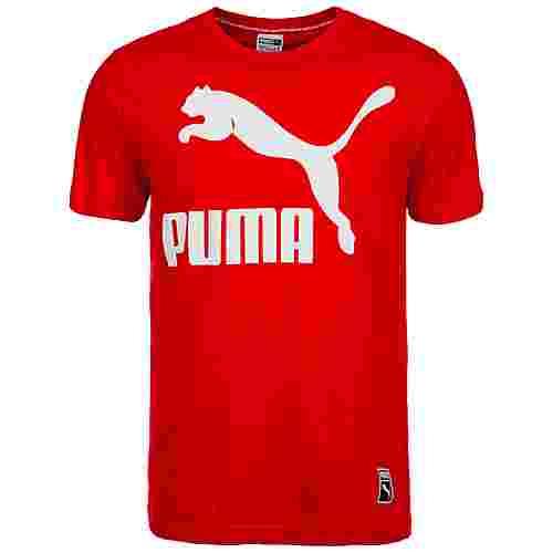 PUMA Archive Logo T-Shirt Herren rot / weiß