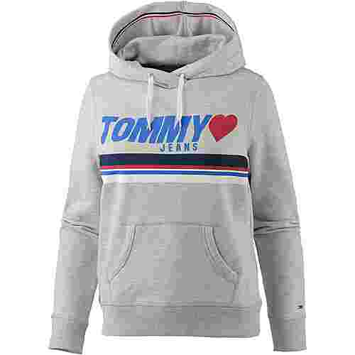 Tommy Jeans Hoodie Damen LIGHT GREY HTR