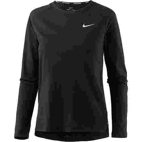 Nike Breathe Tailwind Laufshirt Damen black-reflective silver