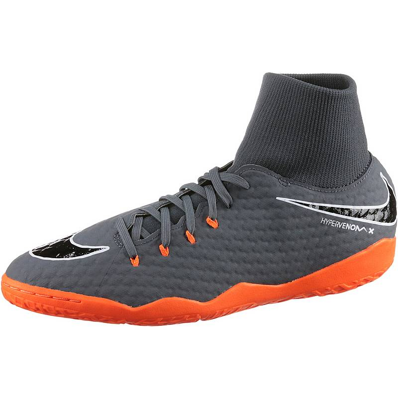 promo code b92f3 c7420 Nike HYPERVENOM PHANTOMX 3 ACADEMY DF IC Fußballschuhe Herren dk grey total  orange-white