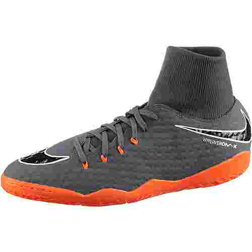 Nike HYPERVENOM PHANTOMX 3 ACADEMY DF IC Fußballschuhe Herren dk grey/total orange-white