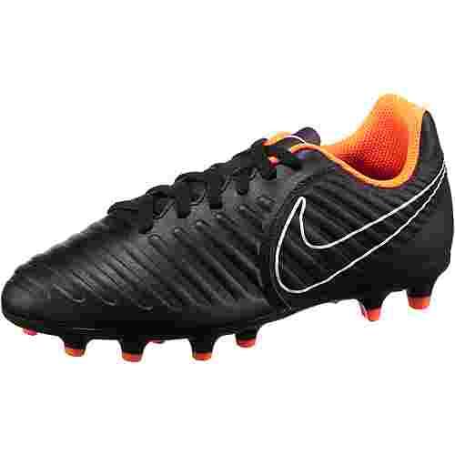 Nike JR TIEMPO LEGEND 7 CLUB FG Fußballschuhe Kinder black/total orange-black-white