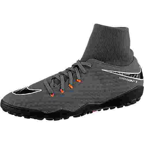 Nike HYPERVENOM PHANTOMX 3 ACADEMY DF TF Fußballschuhe Herren dk grey/total orange-white