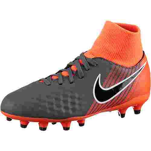 Nike JR MAGISTA OBRA 2 ACADEMY DF FG Fußballschuhe Kinder dk grey/black-total orange-white